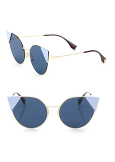 Fendi 55MM Round Cat's-Eye Sunglasses