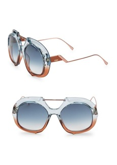 Fendi 55MM Square Aviator Sunglasses