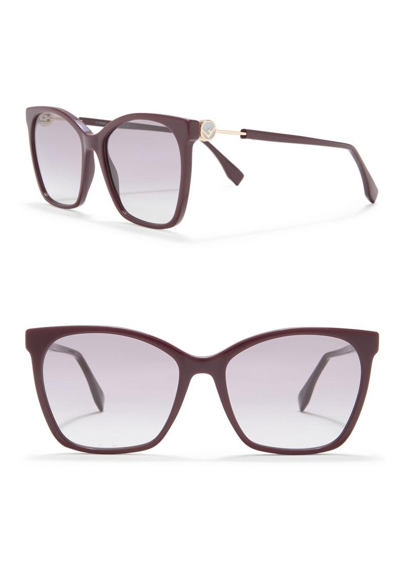 Fendi 57mm Square Sunglasses