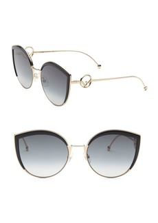 Fendi 58MM Metal Cat Eye Sunglasses