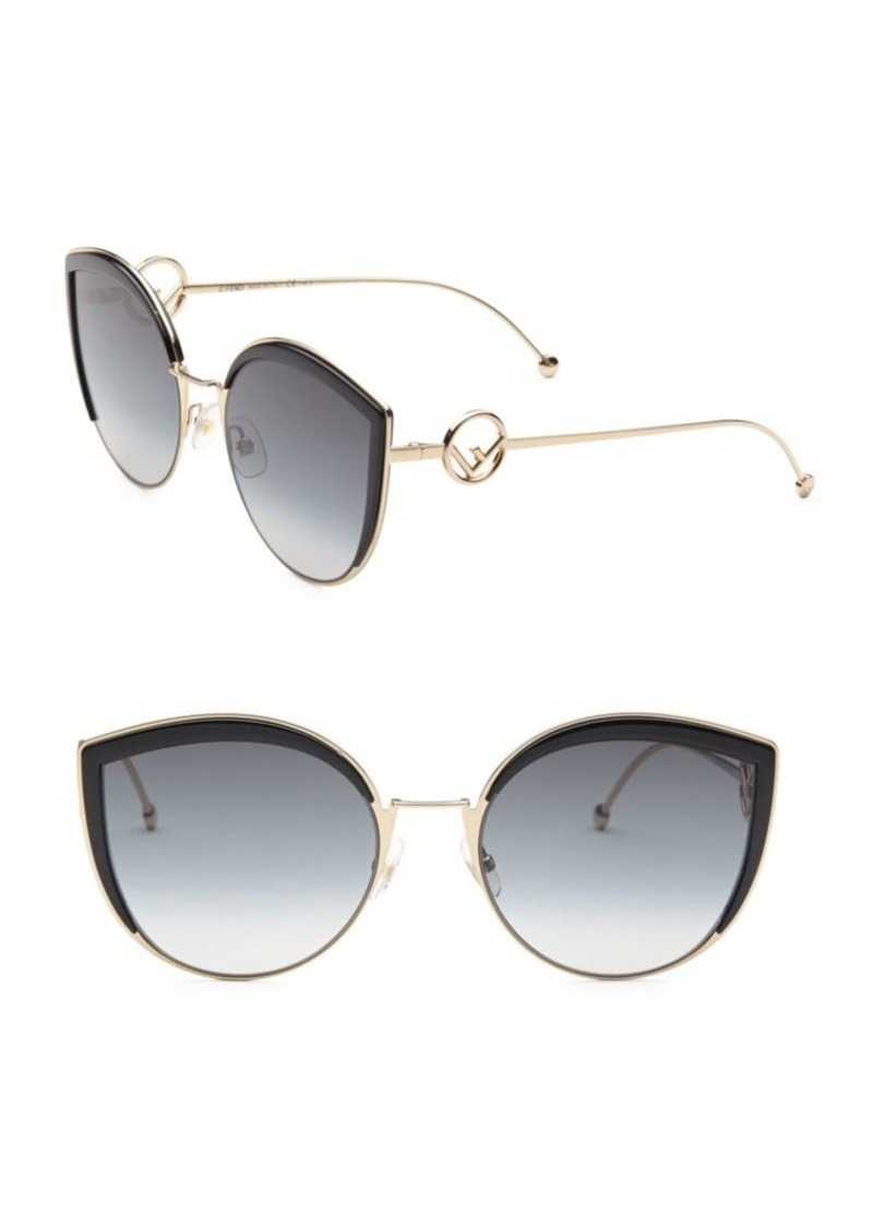 6495c563a90f6 Fendi 58MM Metal Cat Eye Sunglasses