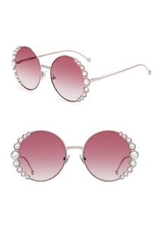 Fendi 58MM Oversized Round Swarovski Crystal Sunglasses