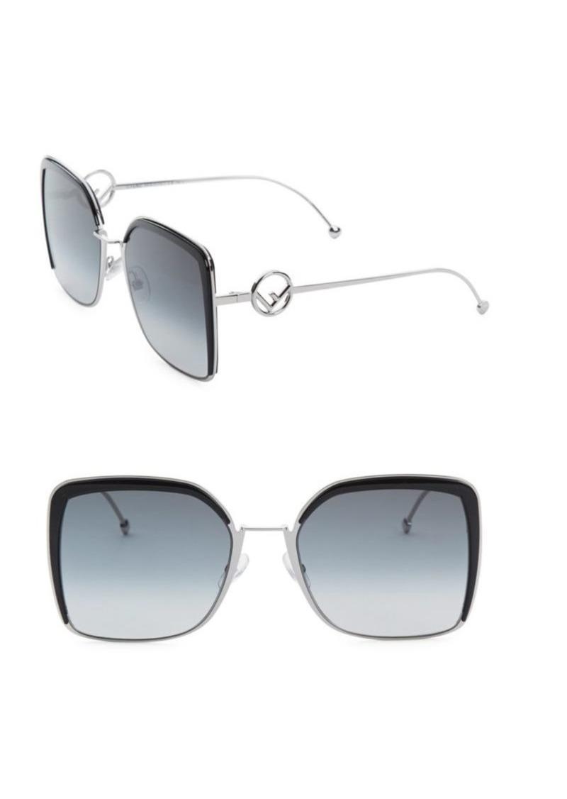 Fendi 58MM Oversized Square Sunglasses