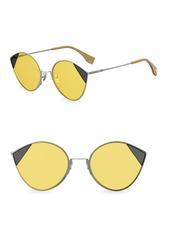 Fendi 60MM Bi-Color Tulip Sunglasses