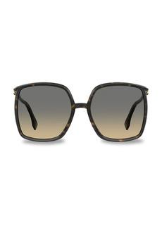 Fendi 60MM Oversized Square Sunglasses
