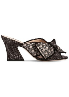 Fendi 75mm Freedom Jacquard Mules Sandals
