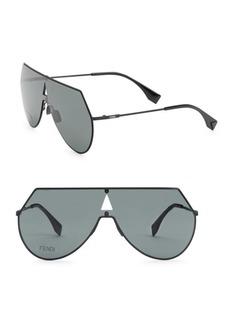 Fendi 99MM Angular A-Frame Sunglasses