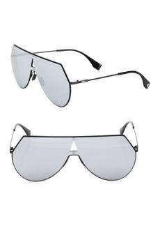 Fendi 99MM Flat-Top Aviator Sunglasses