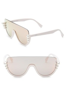 Fendi 99MM Pearl Shield Sunglasses