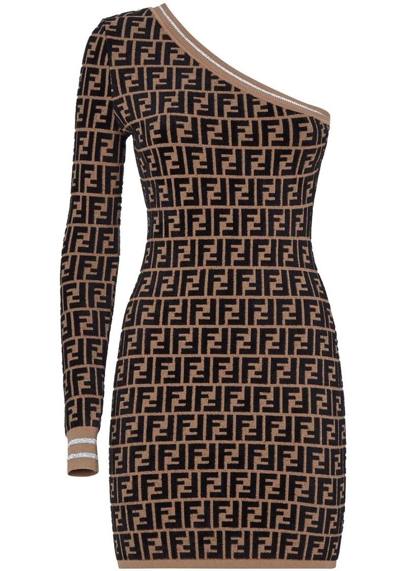 Fendi Prints On one-shoulder dress