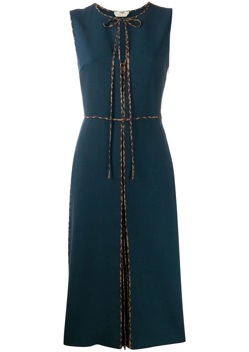 Fendi contrasting FF motifs piped dress