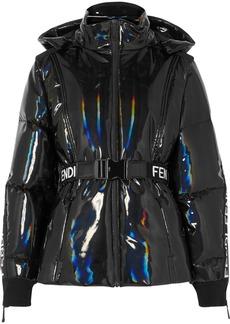 Fendi Appliquéd Holographic Down Ski Jacket
