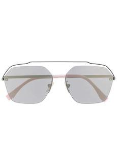 Fendi aviator frame sunglasses
