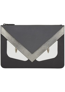 Fendi Bag Bugs zipped clutch