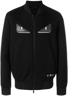 Fendi Bag Bugs-appliqué zipped jacket