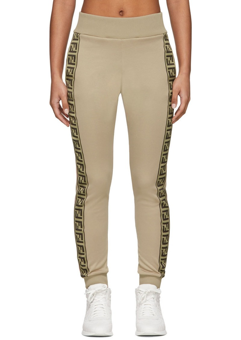 Beige 'Forever Fendi' Lounge Pants