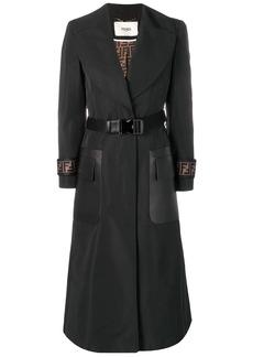 Fendi belted FF logo overcoat