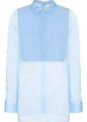 Fendi bib-collar cotton shirt