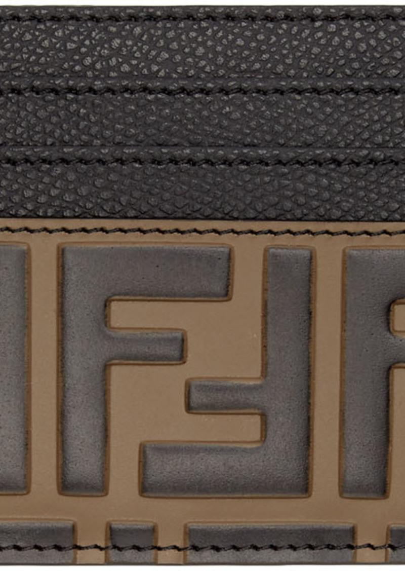 Black & Brown 'Forever Fendi' Card Holder