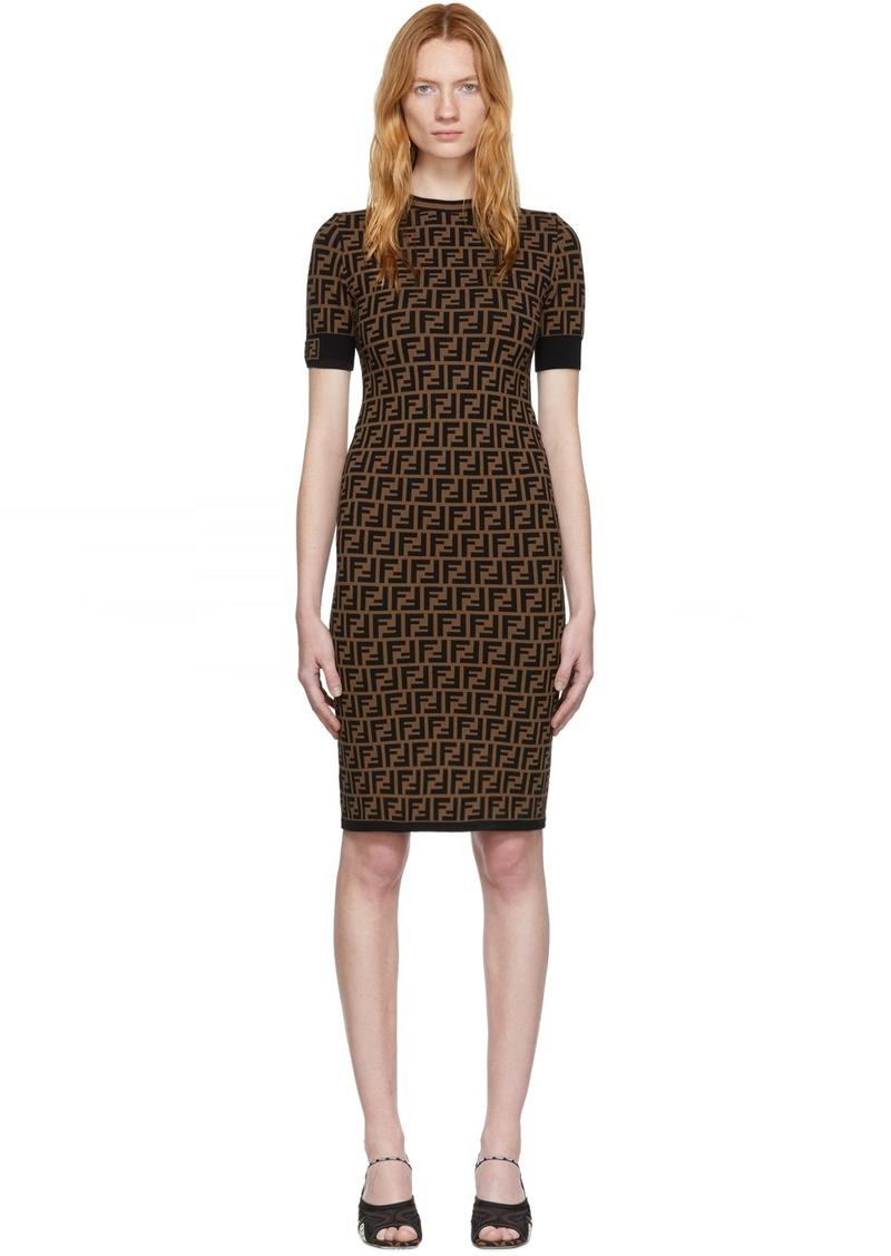 Black & Brown 'Forever Fendi' Dress