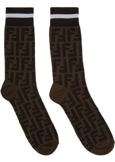 Black & Brown 'Forever Fendi' Socks