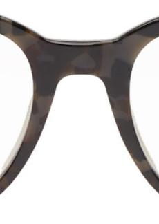 Fendi Black & Brown Round Glasses