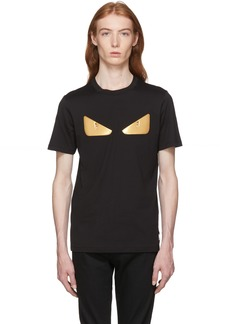 Fendi Black & Gold 'Bag Bugs' T-Shirt