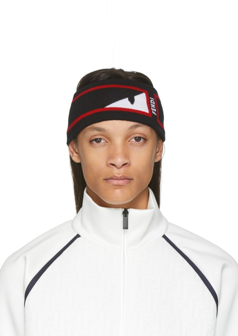 Fendi Black & Red Bag Bugs Mono Eye Headband