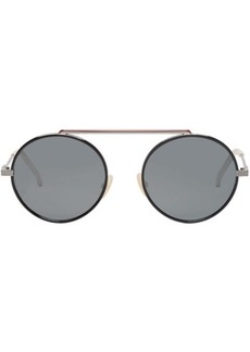 Fendi Black & Red Circle Sunglasses