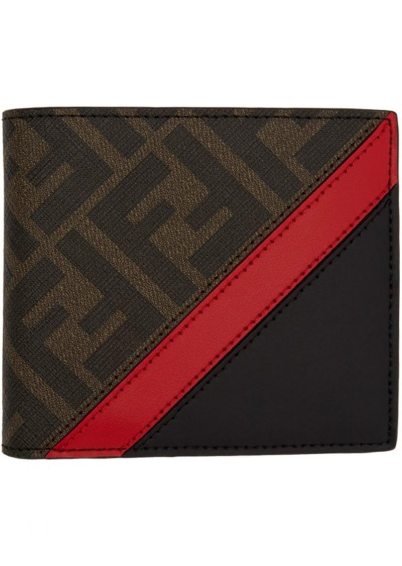 Black & Red 'Forever Fendi' Bifold Wallet
