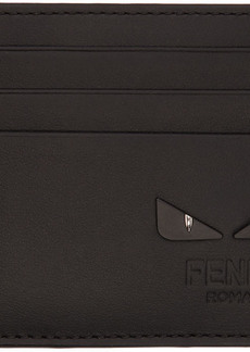 Fendi Black & Silver 'Bag Bugs' Card Holder