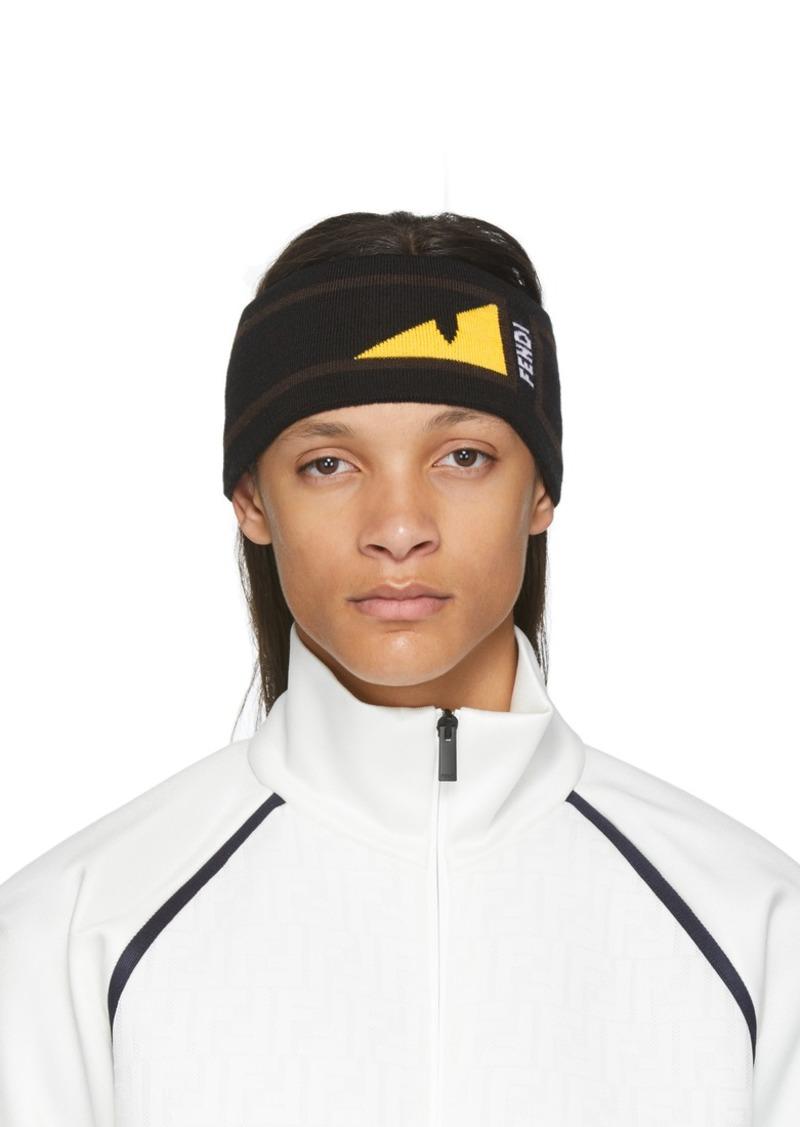 Fendi Black & Yellow Bag Bugs Mono Eye Headband