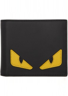 Fendi Black & Yellow 'Bag Bugs' Wallet