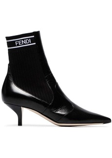Fendi Black 45 stretch ankle boots