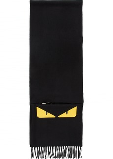 Fendi Black 'Bag Bugs' Packable Scarf
