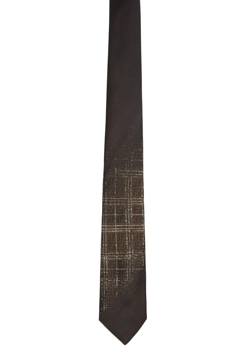 Fendi Black Blurred FF Tie