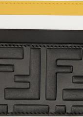 Black Colorblock 'Forever Fendi' Card Holder