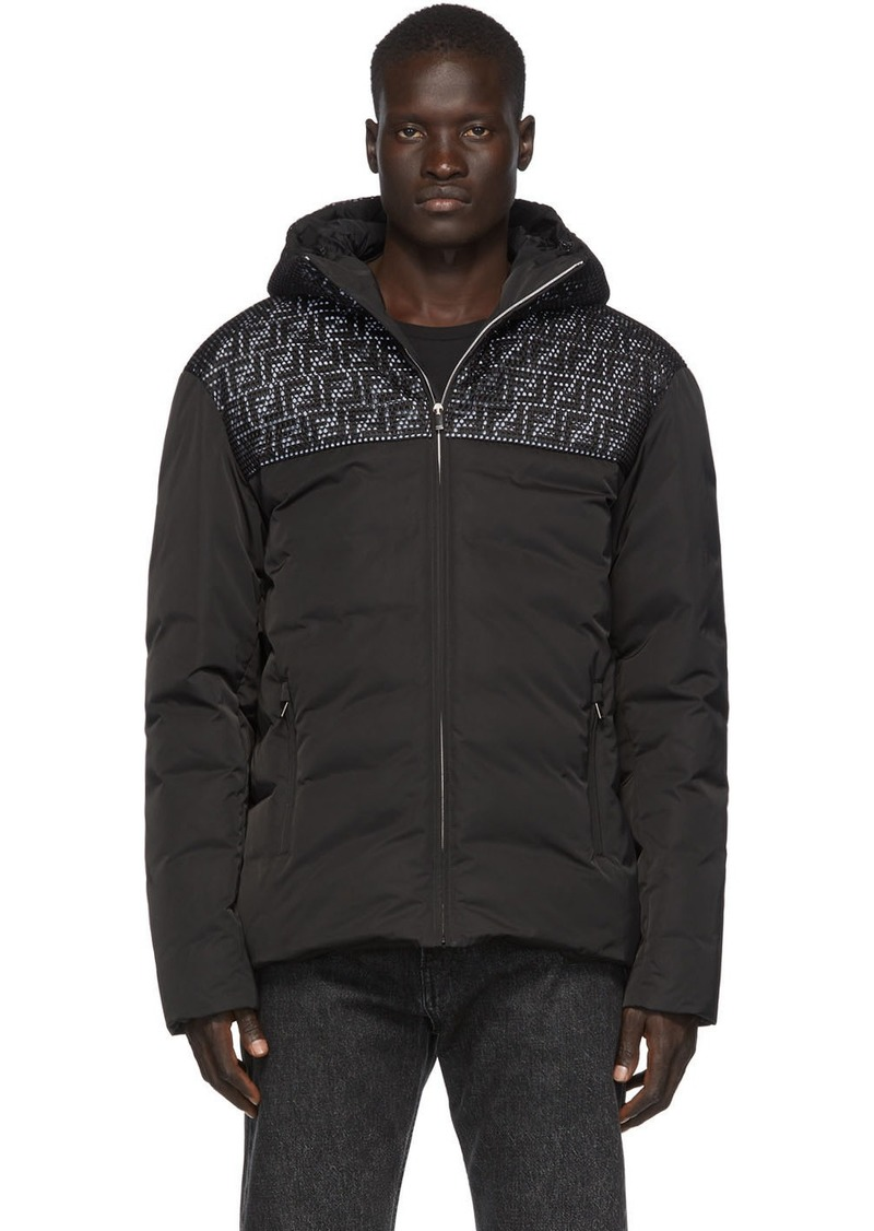Black Down Mesh 'Forever Fendi' Jacket