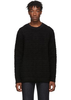 Black Embossed Wool 'Forever Fendi' Sweater