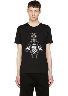 Fendi Black Embroidered 'Super Bugs' T-Shirt