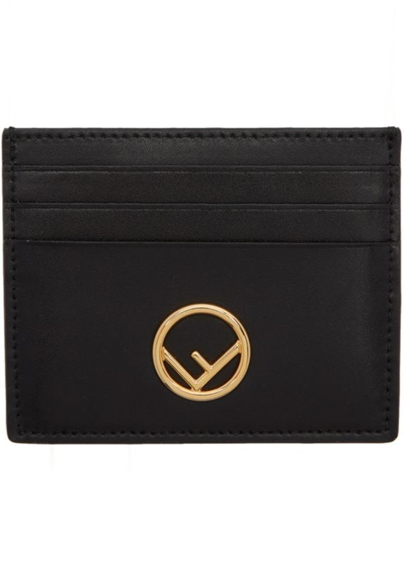 Black 'F is Fendi' Card Holder