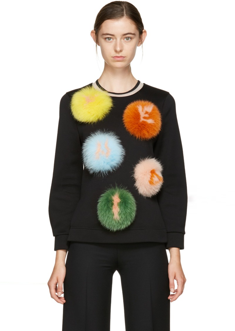 fdfe48da13 Black ' Letters' PomPom Sweatshirt