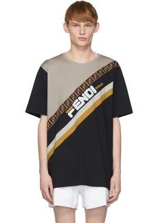 Black 'Fendi Mania' T-Shirt