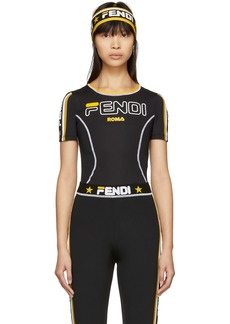 Black 'Fendi Mania' Technical T-Shirt