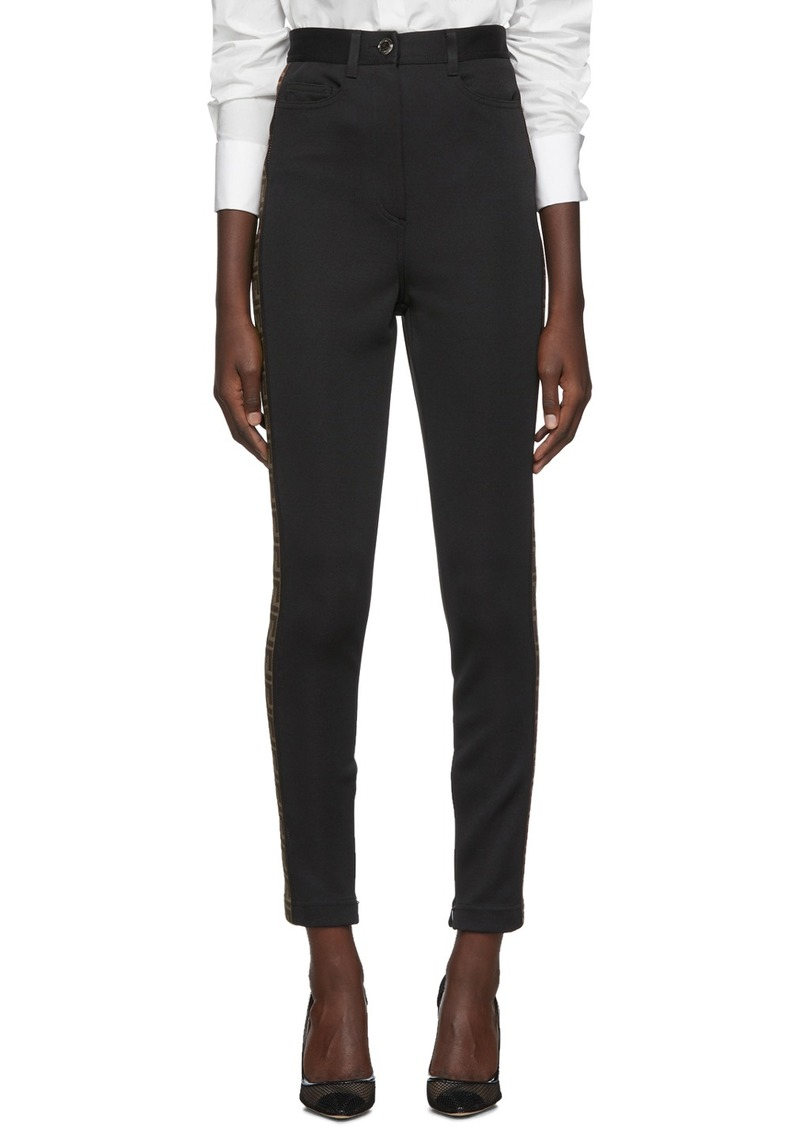Fendi Black FF Logo Band Trousers