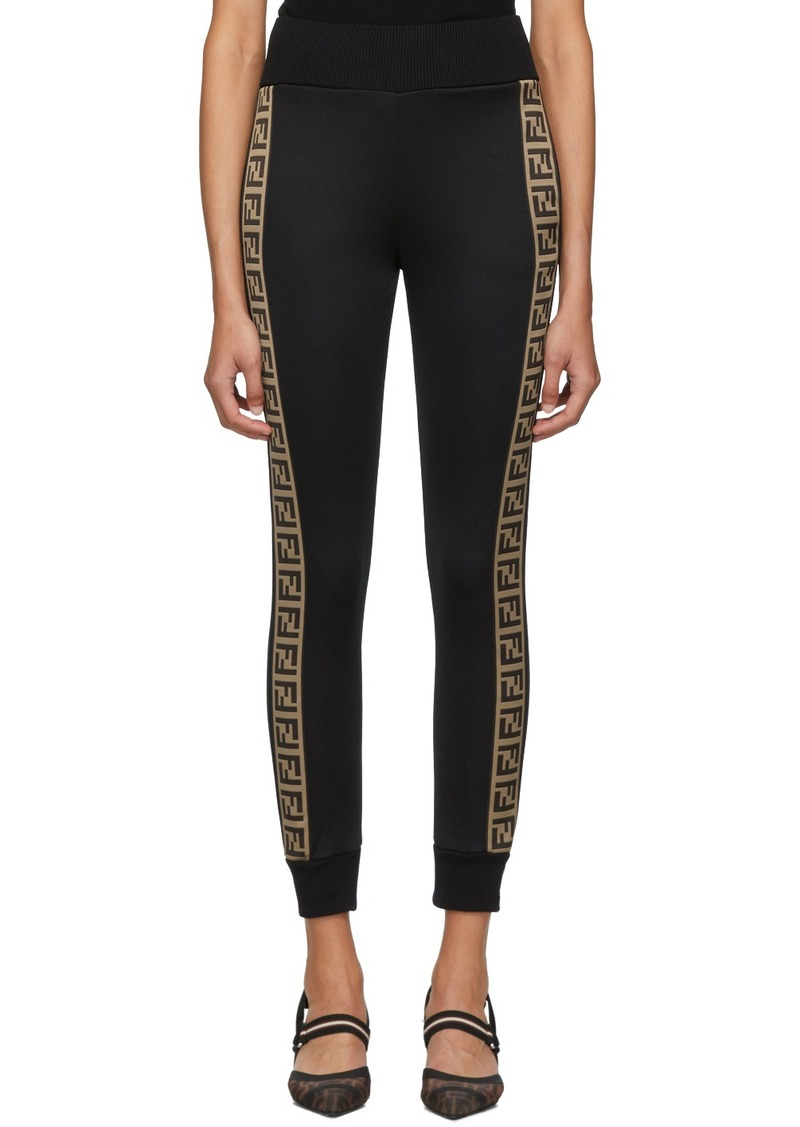 Black 'Forever Fendi' Band Lounge Pants