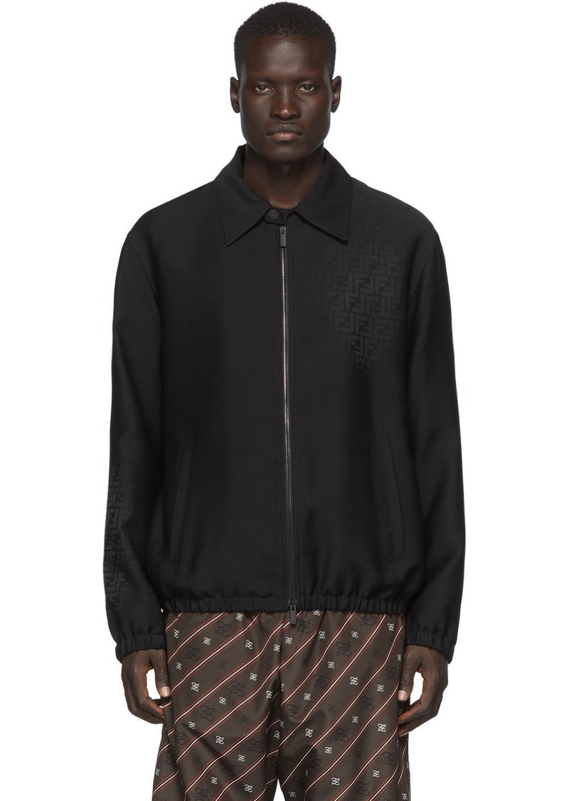 Black 'Forever Fendi' Shirt Jacket