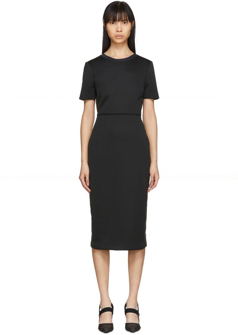 Black 'Forever Fendi' Short Sleeve Dress