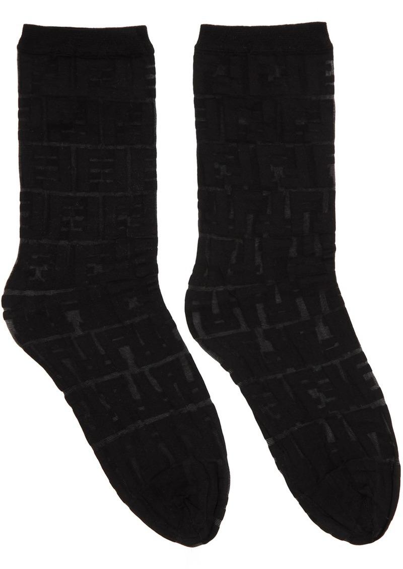 Black 'Forever Fendi' Socks