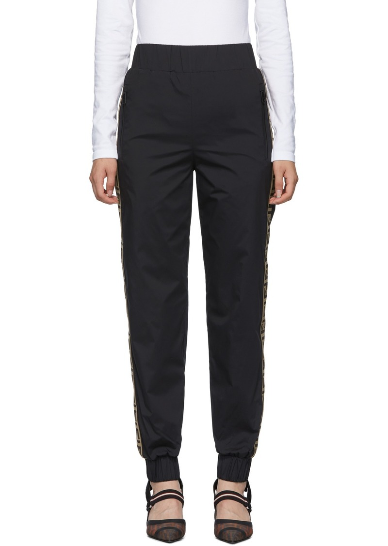 Black 'Forever Fendi' Track Lounge Pants